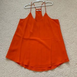 NWOT Grana orange 100% silk cami size small
